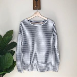 Lou & Grey striped pullover sweatshirt